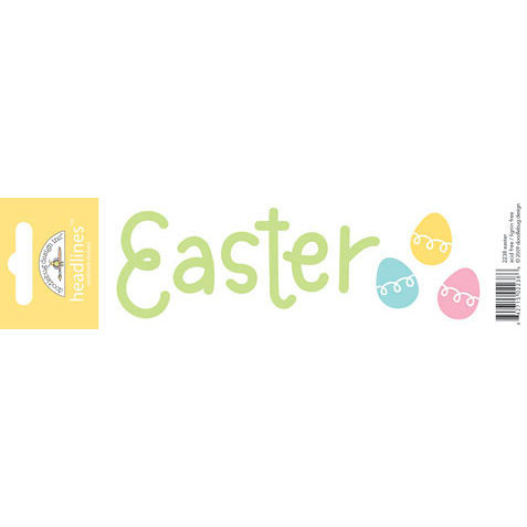Doodlebug Design - Headlines Collection - Cardstock Stickers - Easter