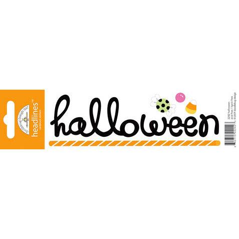 Doodlebug Design - Headlines Collection - Cardstock Stickers - Halloween