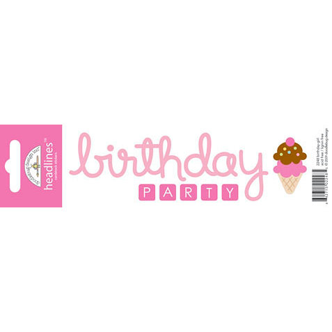 Doodlebug Design - Headlines Collection - Cardstock Stickers - Birthday Girl