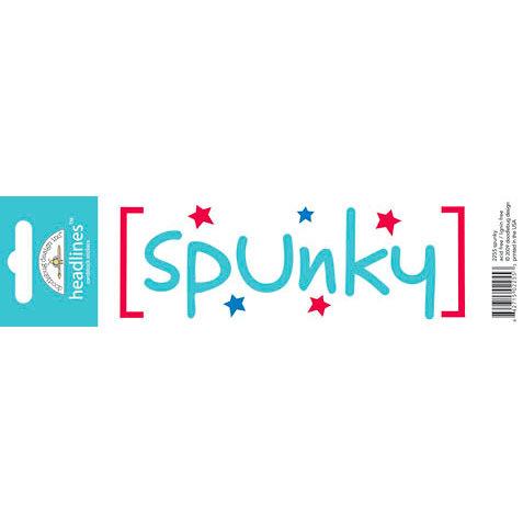 Doodlebug Design - Headlines Collection - Cardstock Stickers - Spunky