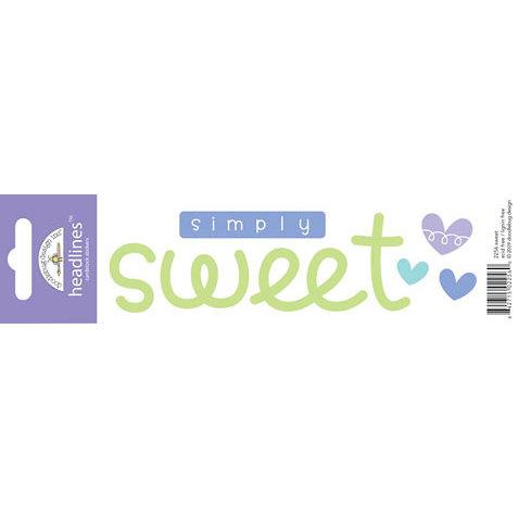 Doodlebug Design - Headlines Collection - Cardstock Stickers - Sweet