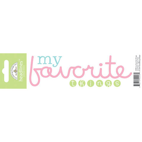 Doodlebug Design - Headlines Collection - Cardstock Stickers - My Favorite Things