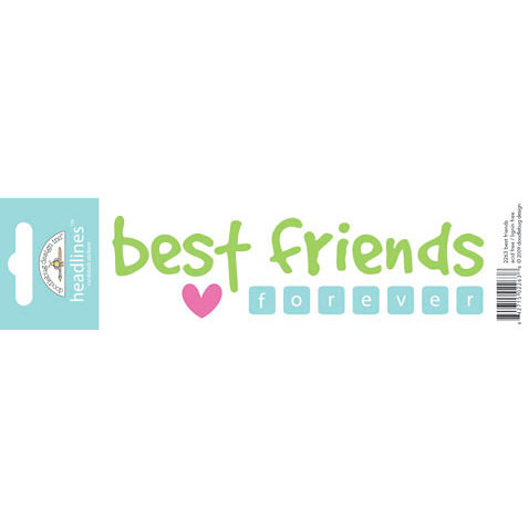 Doodlebug Design - Headlines Collection - Cardstock Stickers - Best Friends