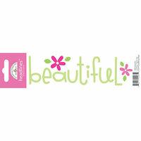 Doodlebug Design - Headlines Collection - Cardstock Stickers - Beautiful