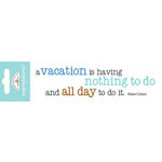 Doodlebug Design - Expressions Collection - Rub Ons - Vacation