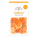 Doodlebug Design - Tidbits Embellishment Packs - Tangerine Assortment, CLEARANCE
