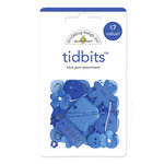 Doodlebug Design - Tidbits Embellishment Packs - Blue Jean Assortment, CLEARANCE