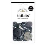 Doodlebug Design - Tidbits Embellishment Packs - Beetle Black Assortment, CLEARANCE