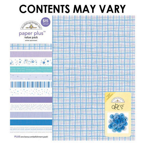 Doodlebug Design - Paper Plus Value Pack - Winter Assortment
