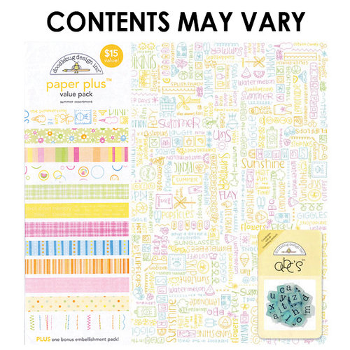Doodlebug Design - Paper Plus Value Pack - Summer Assortment