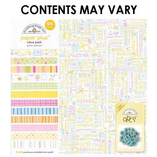 Doodlebug Design - Paper Plus Value Pack - Summer Assortment