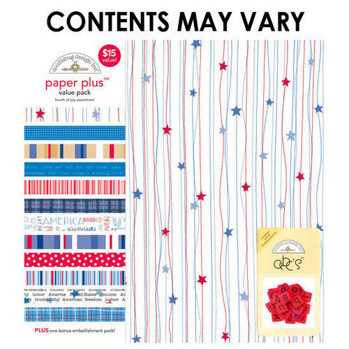 Doodlebug Design - Paper Plus Value Pack - Fourth of July Assortment
