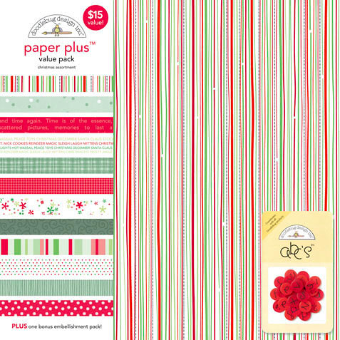 Doodlebug Design - Paper Plus Value Pack - Christmas Assortment