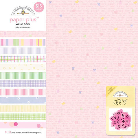 Doodlebug Design - Paper Plus Value Pack - Baby Girl Assortment