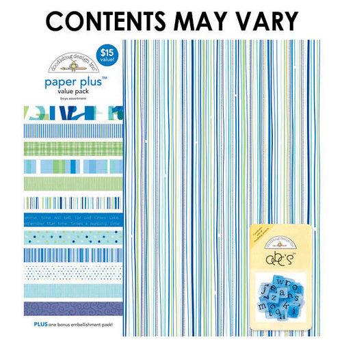 Doodlebug Design - Paper Plus Value Pack - Boys Assortment
