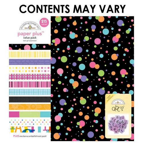 Doodlebug Design - Paper Plus Value Pack - Teen Girl Assortment