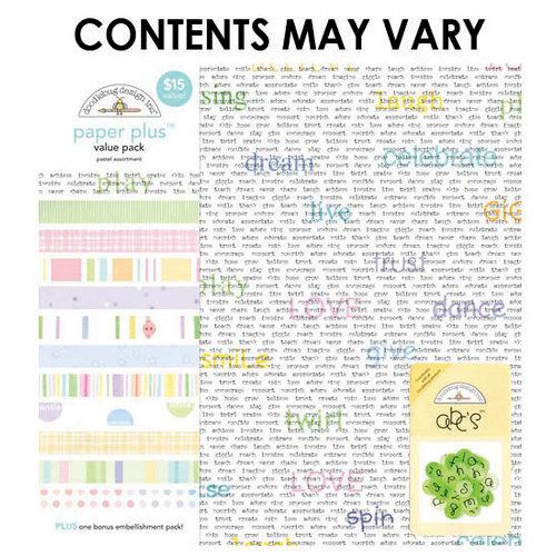 Doodlebug Design - Paper Plus Value Pack - Pastel Assortment