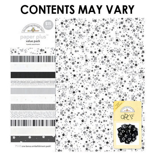 Doodlebug Design - Paper Plus Value Pack - Tuxedo Assortment