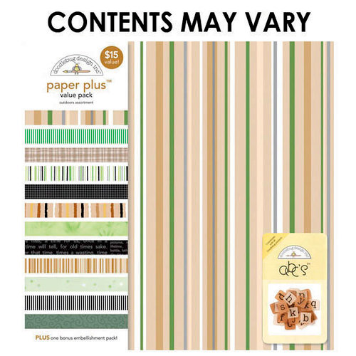 Doodlebug Design - Paper Plus Value Pack - Outdoors Assortment