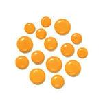 Doodlebug Design - Chunky Brads - Tangerine
