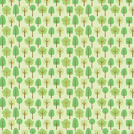 Doodlebug Design - Mother Nature Collection - 12 x 12 Paper - Friendly Forest