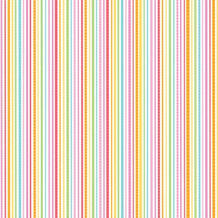 Doodlebug Design - Summertime Collection - 12 x 12 Paper - Rainbow Sherbet