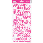 Doodlebug Design - Jack and Jill Collection - Alphabet Cardstock Stickers - Bubblegum, CLEARANCE
