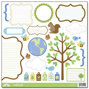 Doodlebug Design - Mother Nature Collection - Cute Cuts - 12 x 12 Cardstock Die Cuts