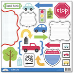 Doodlebug Design - On The Go Collection - Cute Cuts - 12 x 12 Cardstock Die Cuts