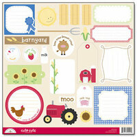 Doodlebug Design - Barnyard Collection - Cute Cuts - 12 x 12 Cardstock Die Cuts