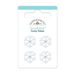 Doodlebug Design - Happy Holidays Collection - Brads - Frosty Flakes Braddies