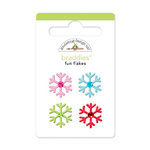 Doodlebug Design - Happy Holidays Collection - Brads - Fun Flakes Braddies