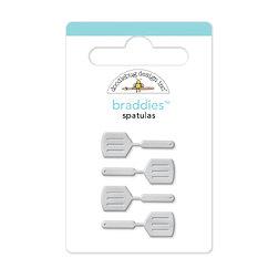 Doodlebug Design - Bon Appetit Collection - Brads - Spatulas Braddies