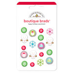 Doodlebug Design - Happy Holidays Collection - Boutique Brads - Assorted Brads - Happy Holidays