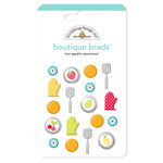 Doodlebug Design - Bon Appetit Collection - Boutique Brads - Assorted Brads - Bon Appetit