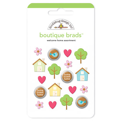 Doodlebug Design - Welcome Home Collection - Boutique Brads - Assorted Brads - Welcome Home