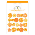 Doodlebug Design - Boutique Buttons - Assorted Buttons - Tangerine