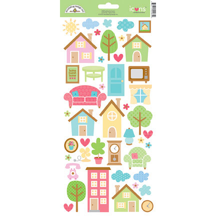 Doodlebug Design - Welcome Home Collection - Cardstock Stickers - Icons