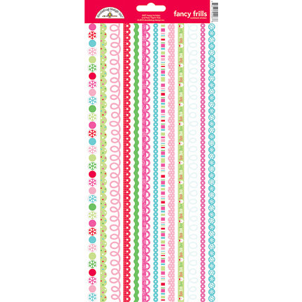 Doodlebug Design - Happy Holidays Collection - Sugar Coated Cardstock Stickers - Fancy Frills