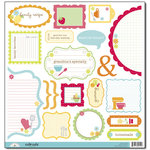 Doodlebug Design - Bon Appetit Collection - Cute Cuts - 12 x 12 Cardstock Die Cuts