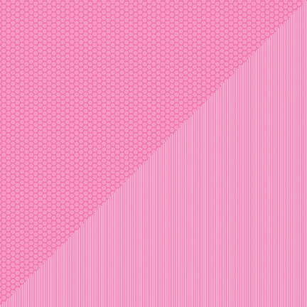 Doodlebug Design - Petite Prints Collection - 12 x 12 Double Sided Paper - Daisy Stripe Bubblegum