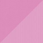 Doodlebug Design - Petite Prints Collection - 12 x 12 Double Sided Paper - Daisy Stripe Bubblegum