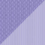 Doodlebug Design - Petite Prints Collection - 12 x 12 Double Sided Paper - Daisy Stripe Lilac