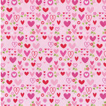 Doodlebug Design - Sweet Love Collection - 12 x 12 Glitter Paper - Sweethearts