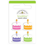 Doodlebug Design - Cake and Ice Cream Collection - Brads - Sweet Cakes Braddies