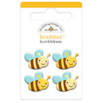 Doodlebug Design - Ladybug Garden Collection - Brads - Bumblebees Braddies
