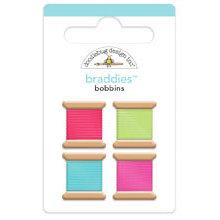 Doodlebug Design - Nifty Notions Collection - Brads - Bobbins Braddies