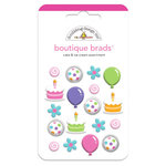 Doodlebug Design - Cake and Ice Cream Collection - Boutique Brads - Assorted Brads - Cake and Ice Cream