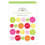 Doodlebug Design - Ladybug Garden Collection - Boutique Buttons - Assorted Buttons - Ladybug Garden