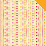 Doodlebug Design - Ladybug Garden Collection - 12 x 12 Double Sided Paper - All in a Row